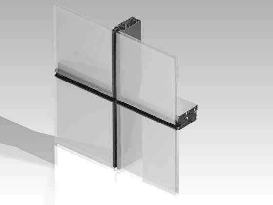 Ściana z profili aluminiowych