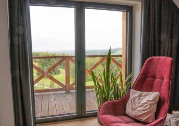 Drzwi przesuwne balkonowe aluminiowe