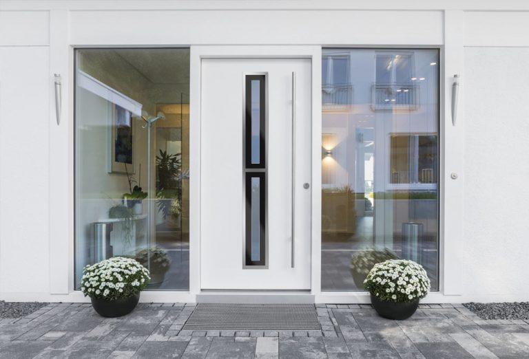 Drzwi aluminiowe wejściowe